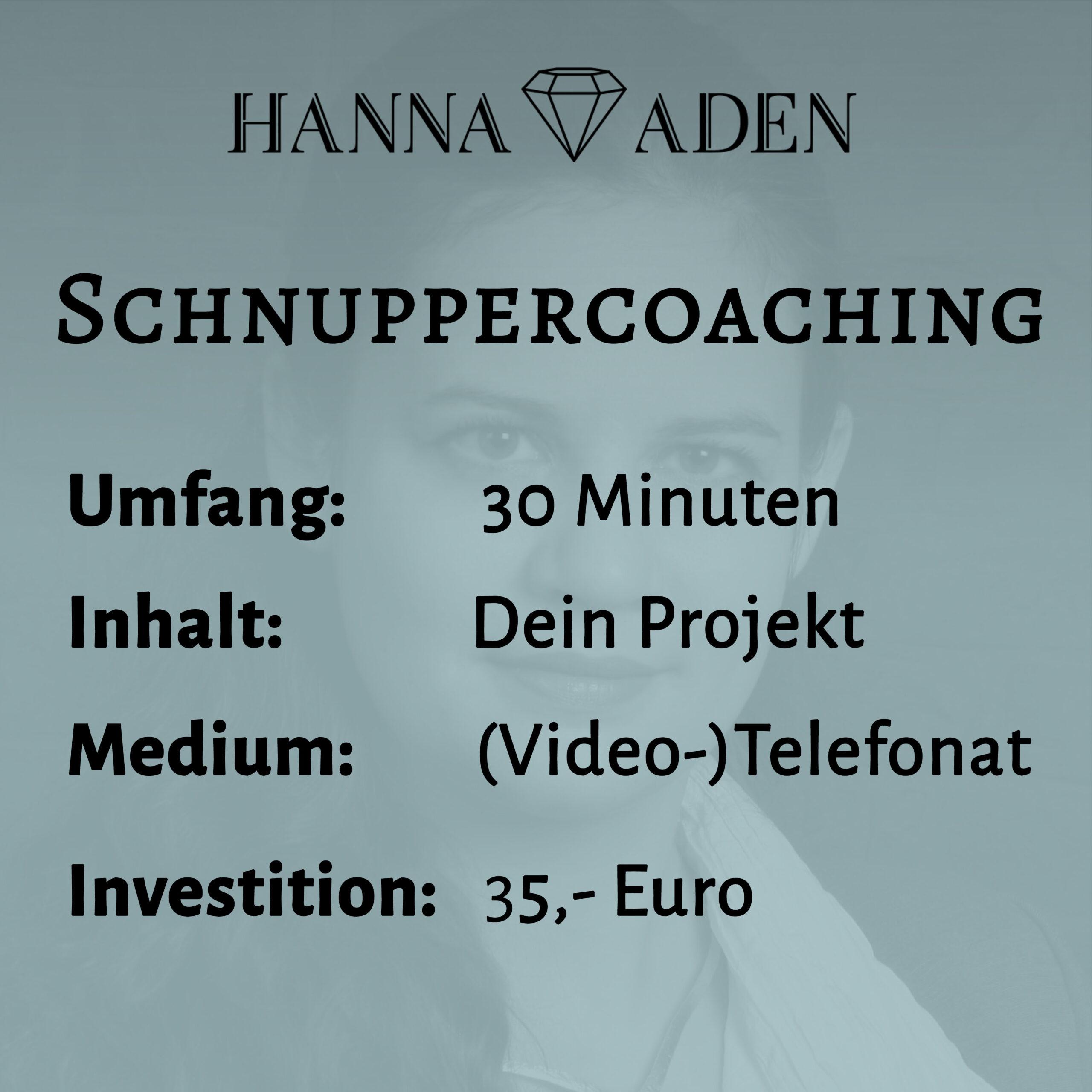 Schnuppercoaching
